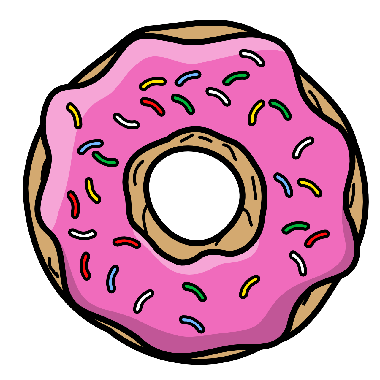 Cartoon donut png. Doughnut icing sprinkles transprent