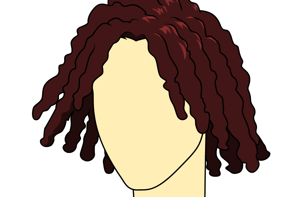 Cartoon dreads png. How to draw male