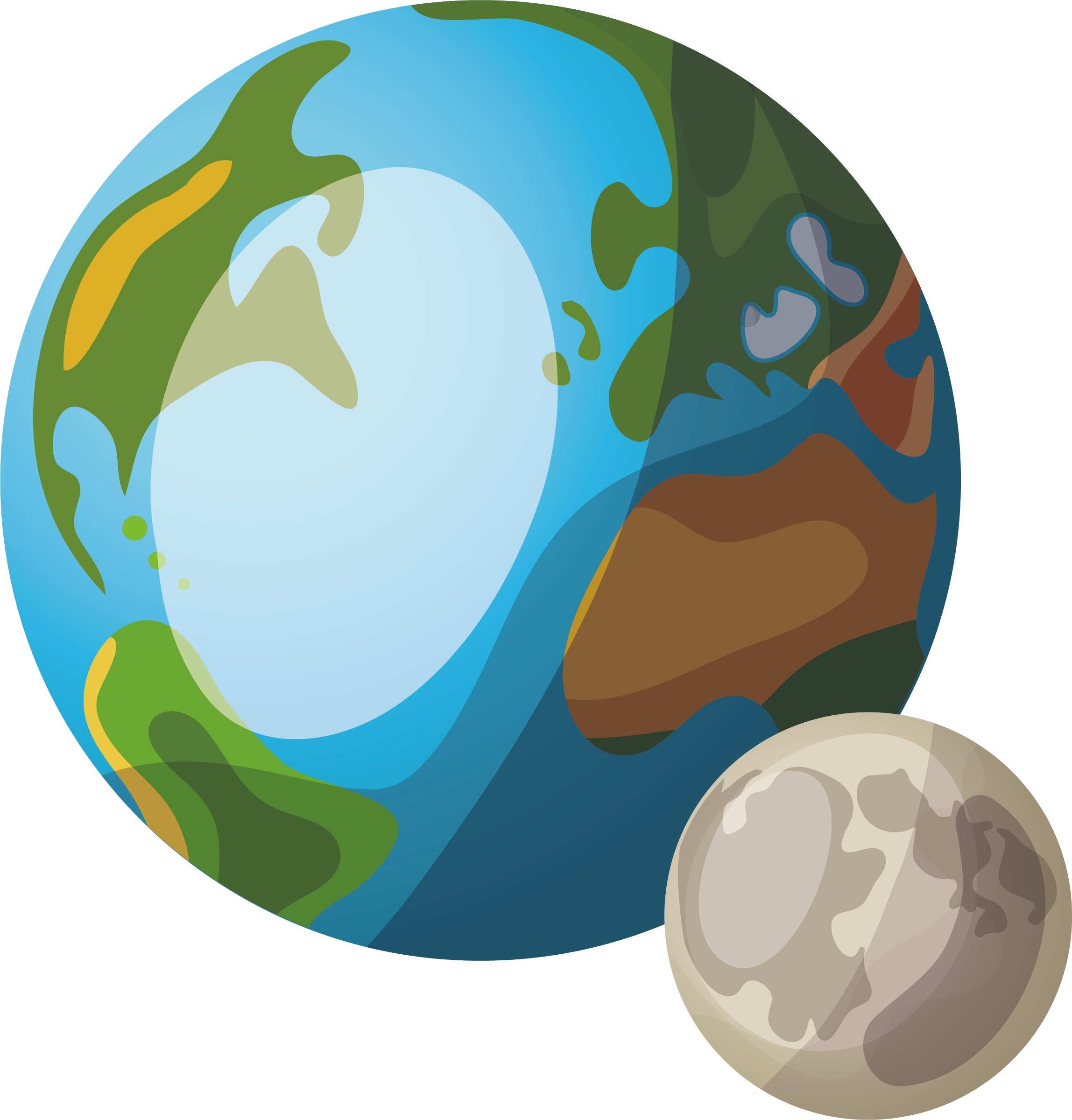 Cartoon earth png. Planet two planets transprent