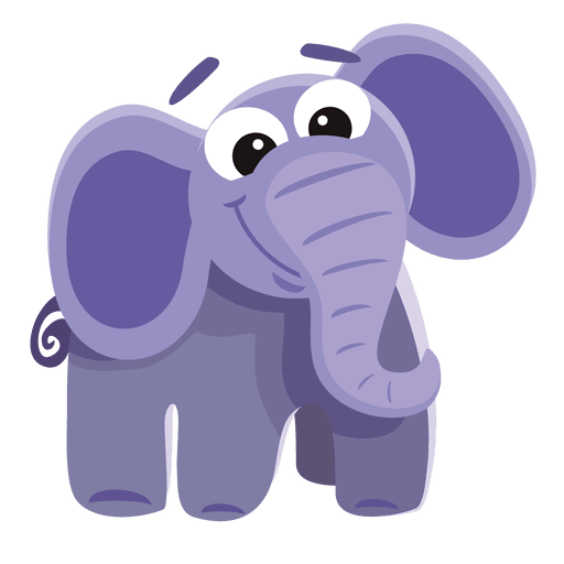 Cartoon elephant png. Funny transparent svg vector