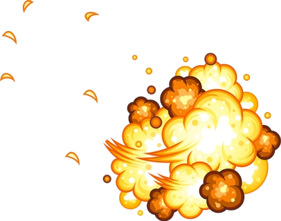 Cartoon explosion png. Psd official psds share