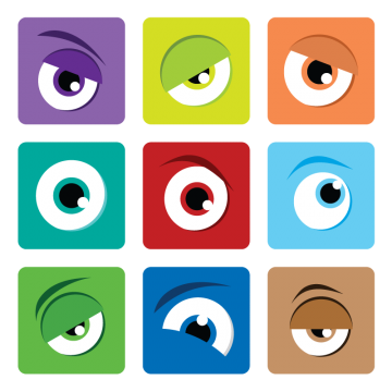 Cartoon eyes png images. Colorful vector eye picture transparent library