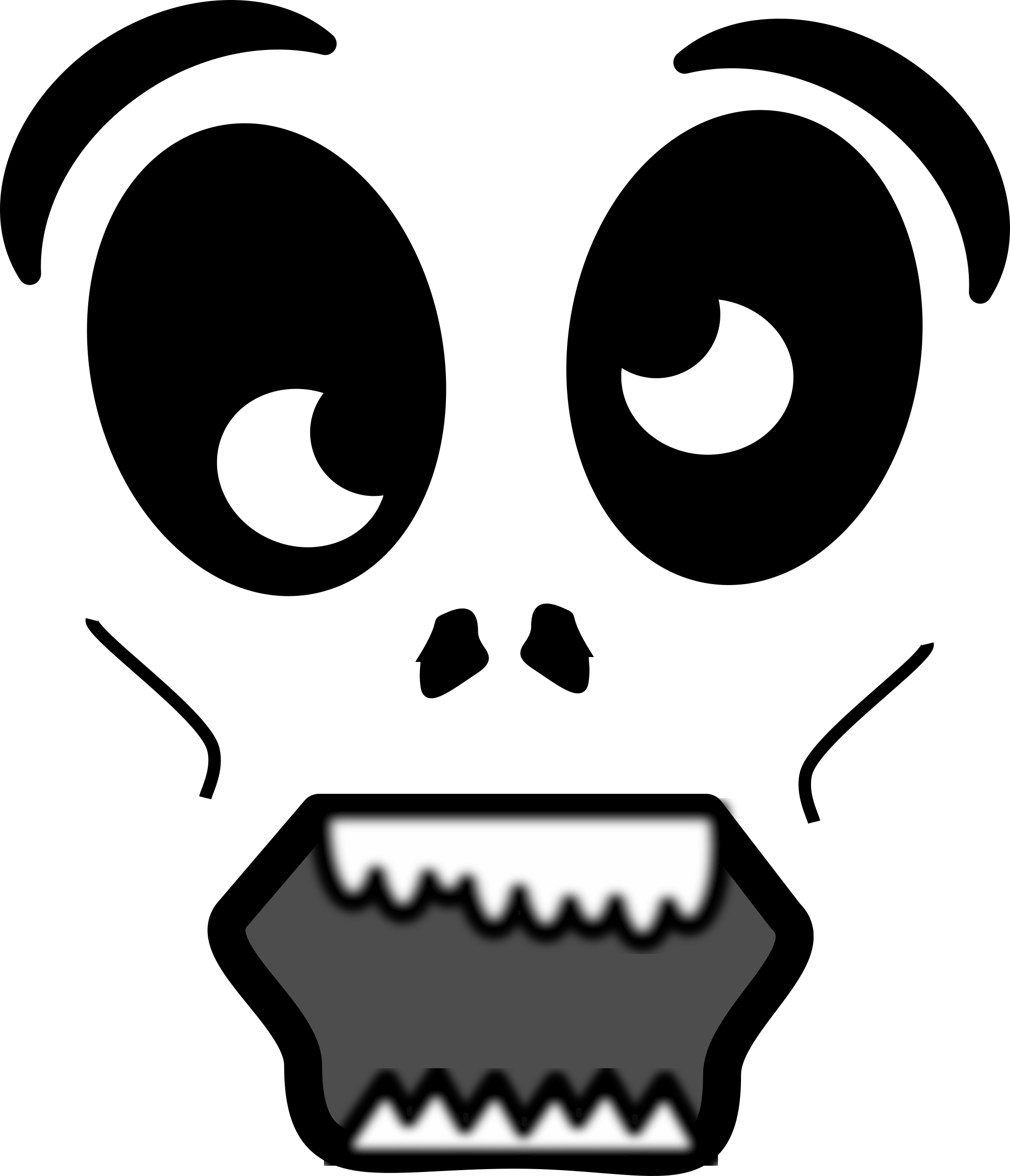 Cartoon face png. Clipart zombie