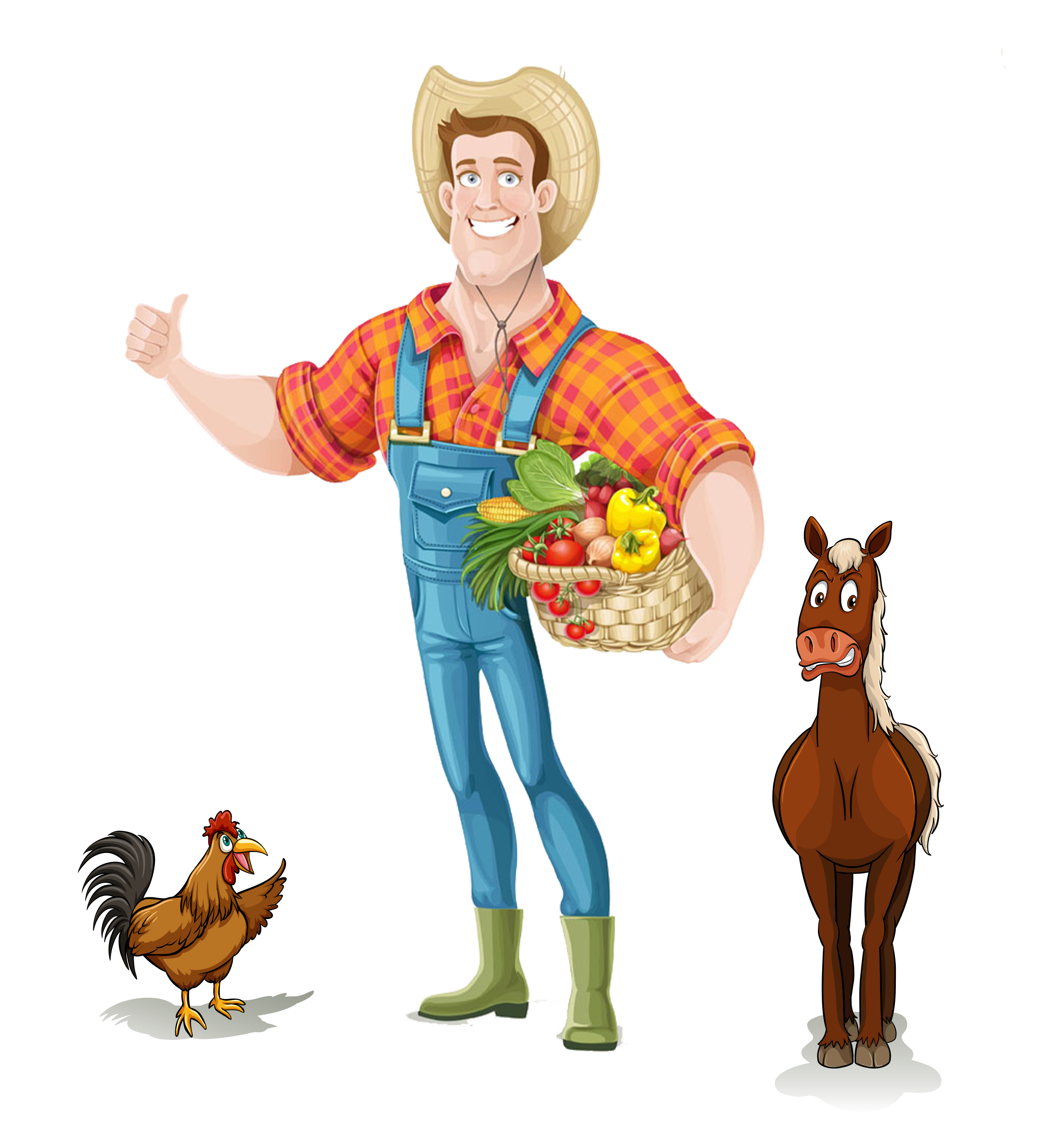 Png farmer. Agriculture icon cartoon transprent