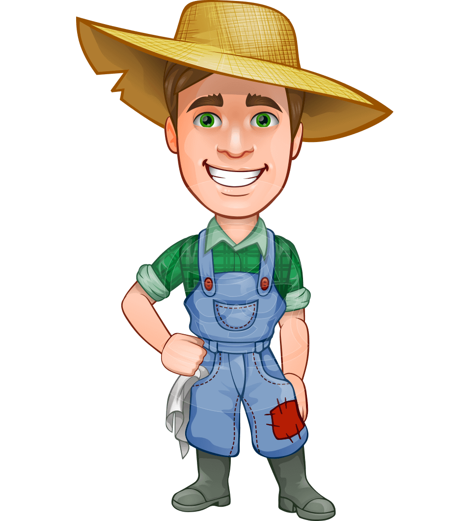 Cartoon farmer png. Connor as mr handsome