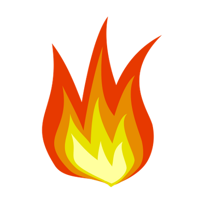 Cartoon fire png. Simple flame transparent