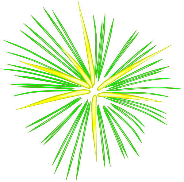 Cartoon fireworks png. Large green clip art