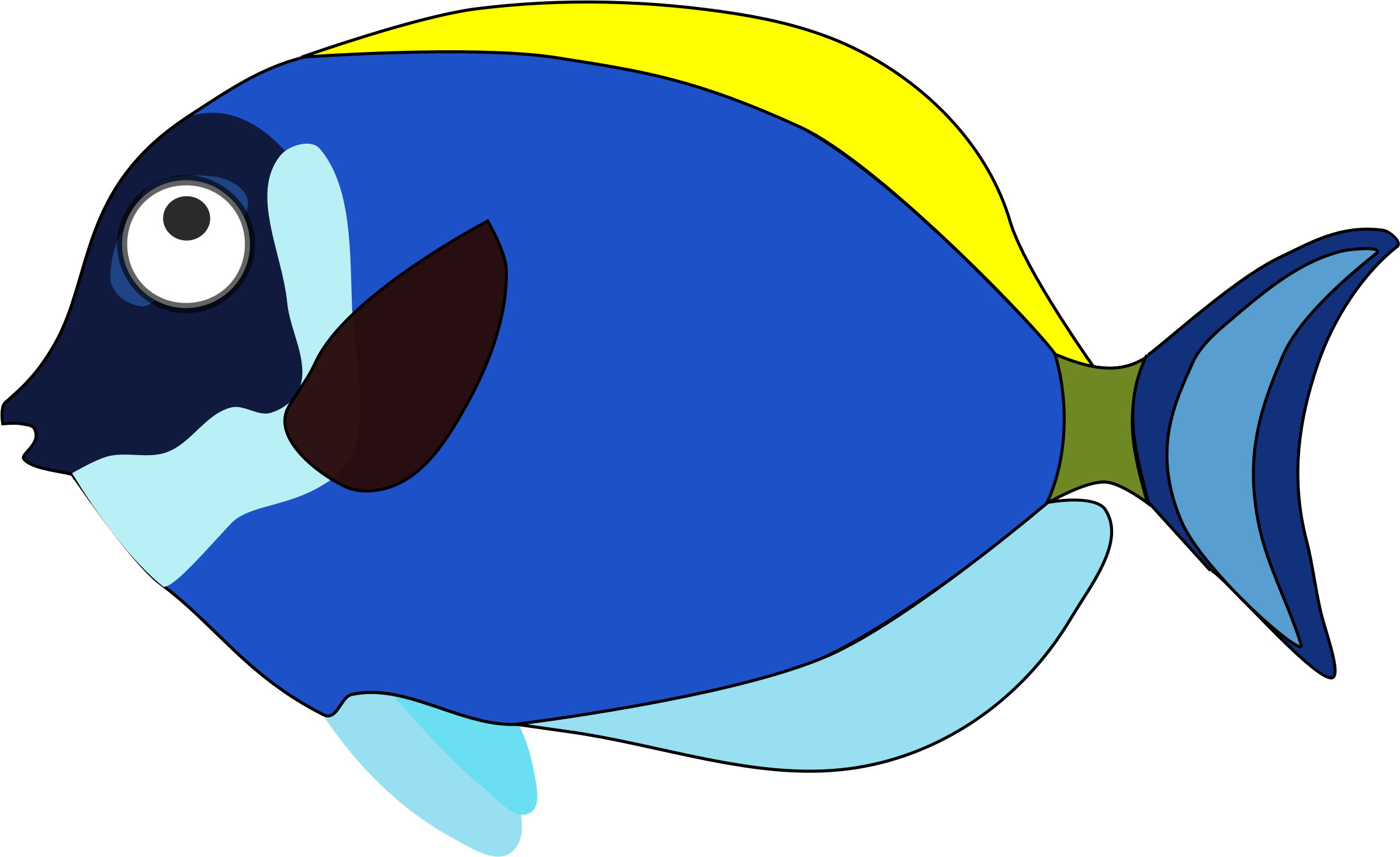 Fish cartoon png. Blue icons free and