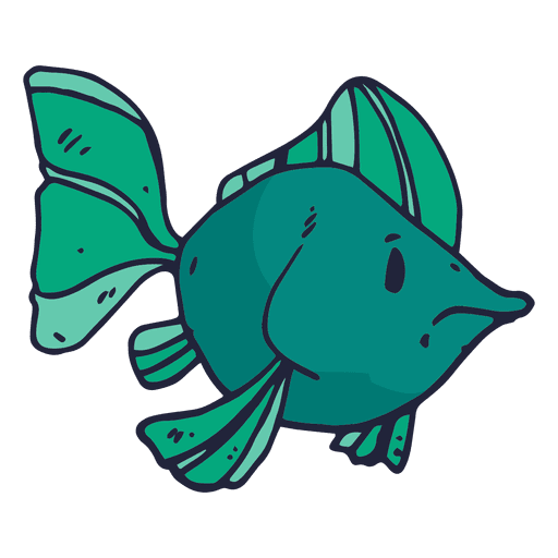 Cartoon fish png. Green transparent svg vector