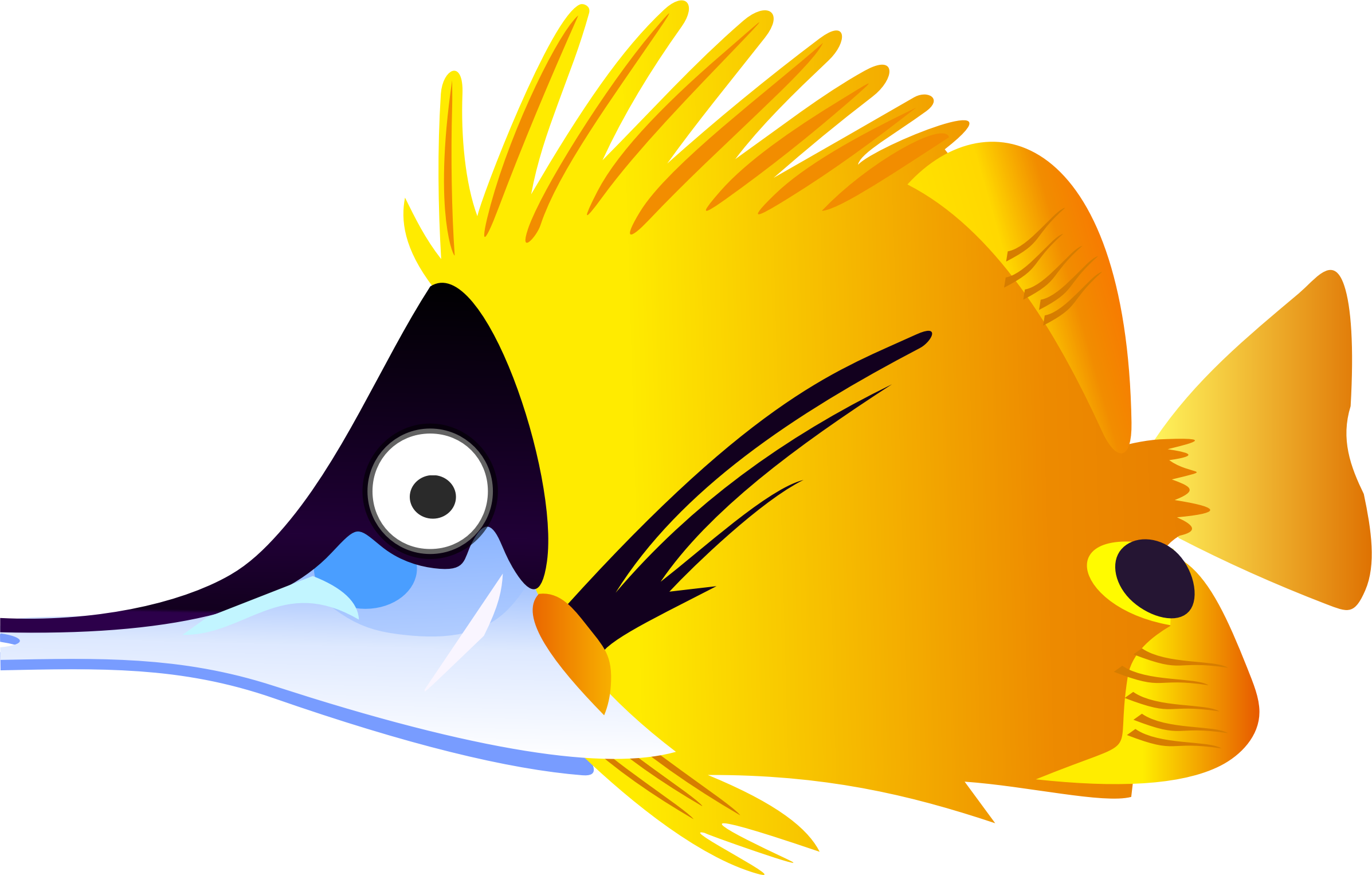 Fish cartoon png. Yellow icons free and