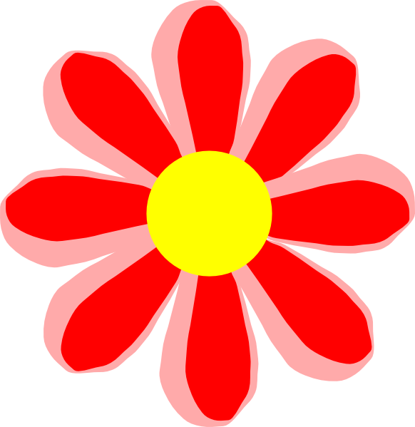 Cartoon flower png. Red clip art at