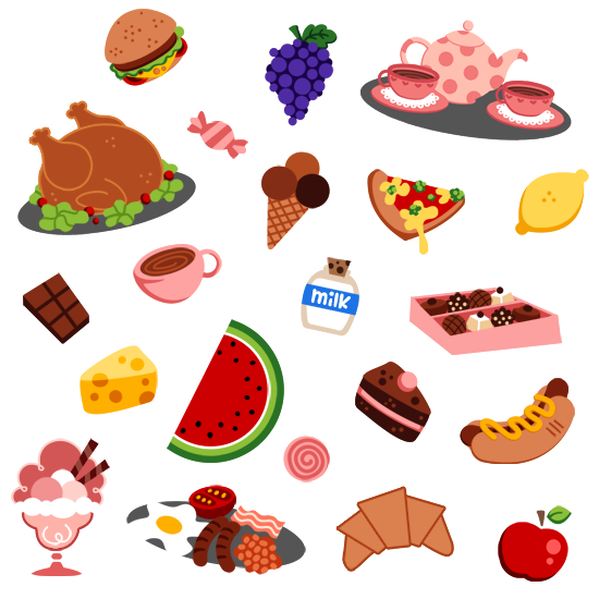 Cartoon food png. Is good by sprits