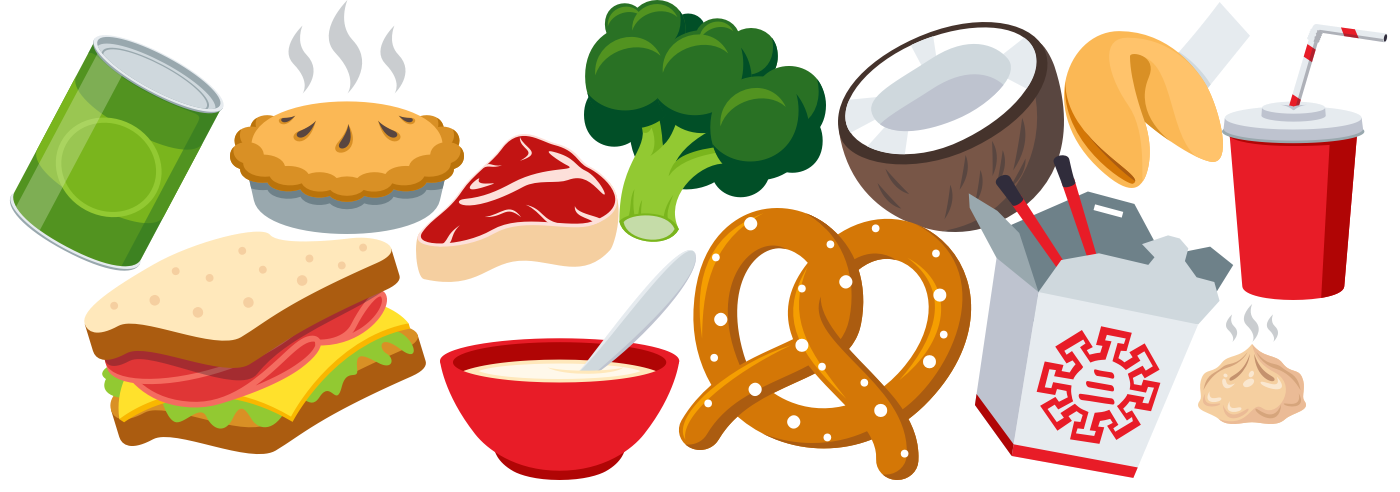 Cartoon food png. A tasty look at