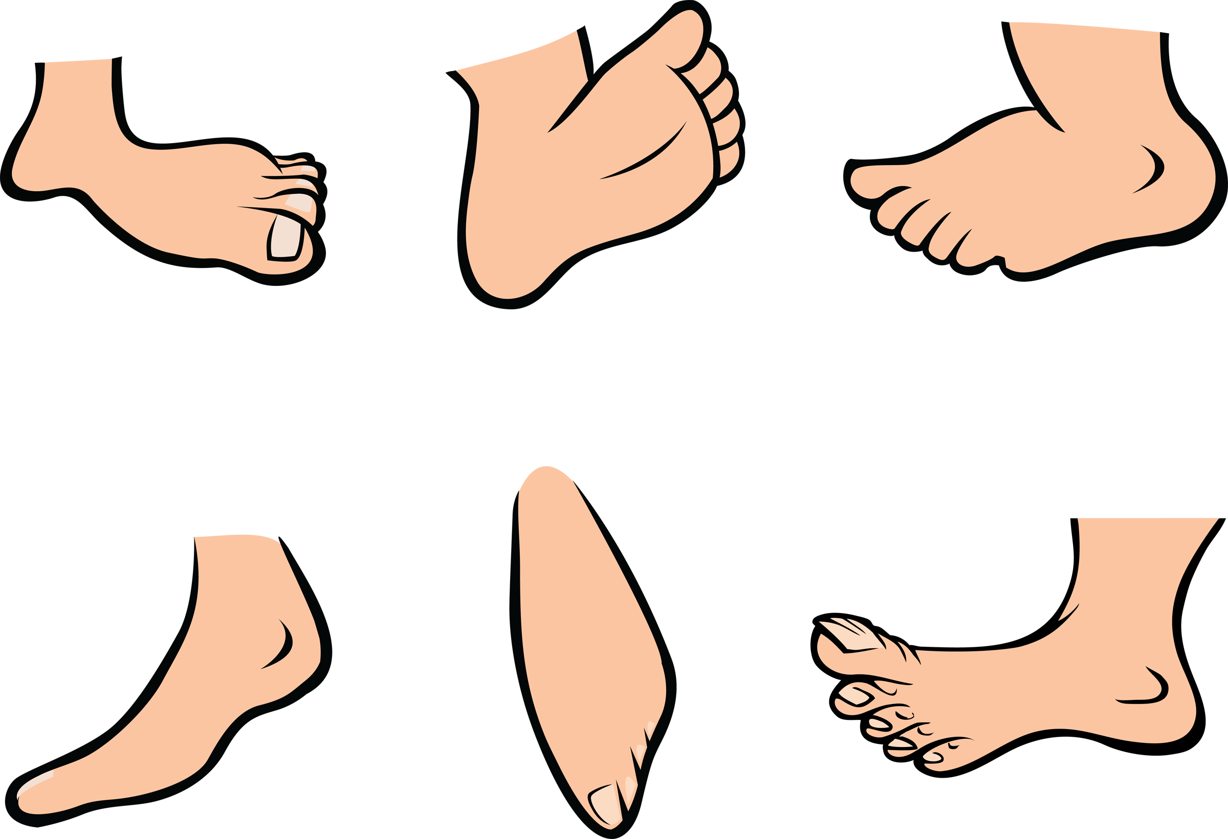 fingers drawing toe