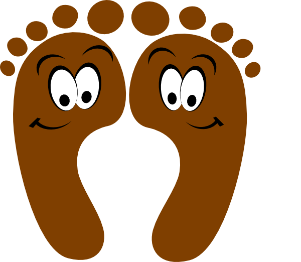 Cartoon foot png. Clipart kid clipartix