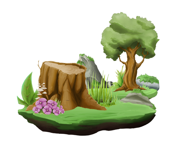 Cartoon forest png. User interface d elements