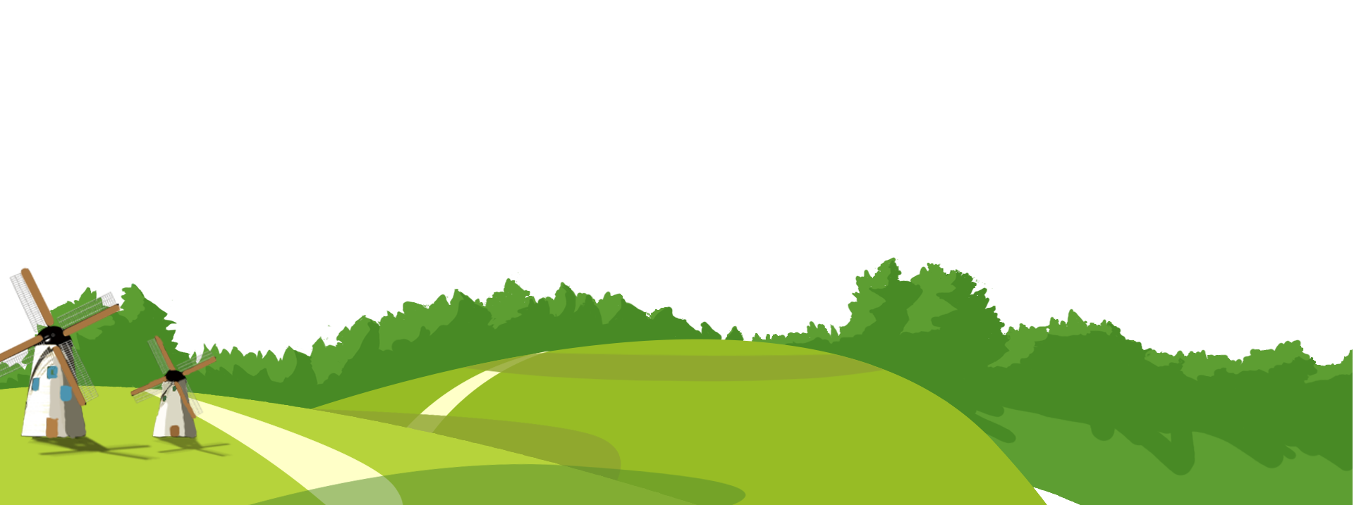 Cartoon forest png. Animation road background material