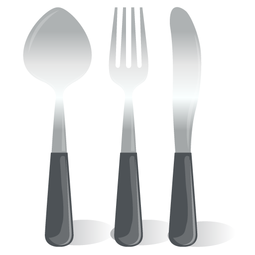 Cartoon fork png. Cutlery spoon knife icon