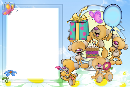 Frame clip cartoon. Free birthday frames download