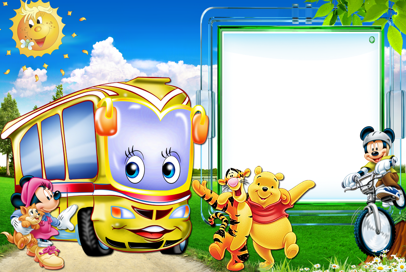 Cartoon frame png. Cute kids gallery yopriceville