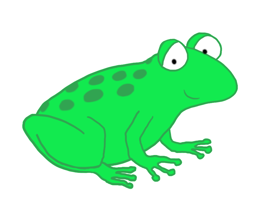Drawing frogs green frog. Clip art funny cartoon