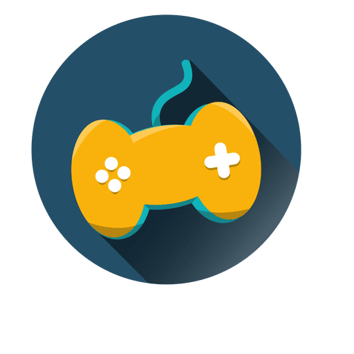 Cartoon gaming controller png. Round icon transparent svg