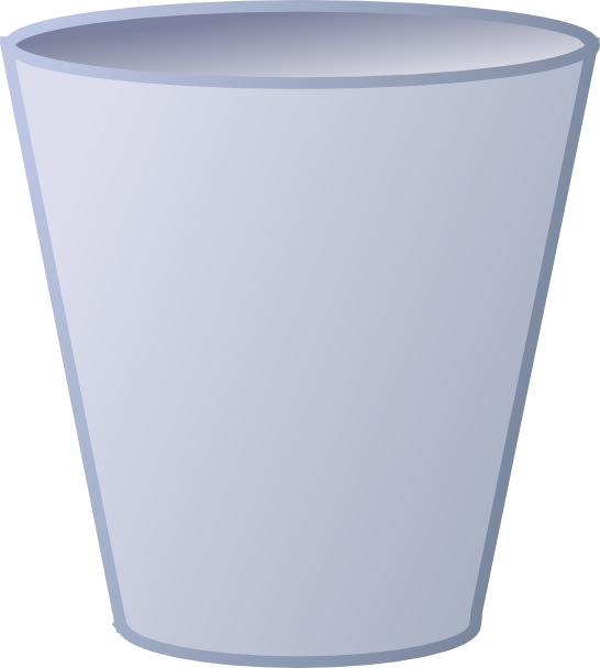 Open garbage can png. Empty trash clip art
