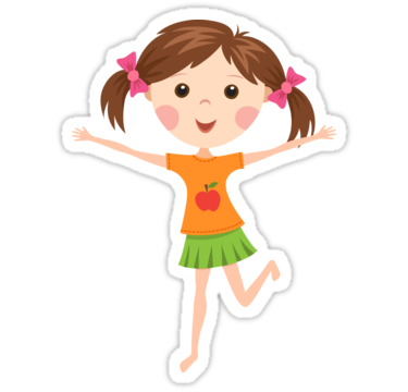 Cute girl png picture. Girls transparent cartoon banner royalty free download