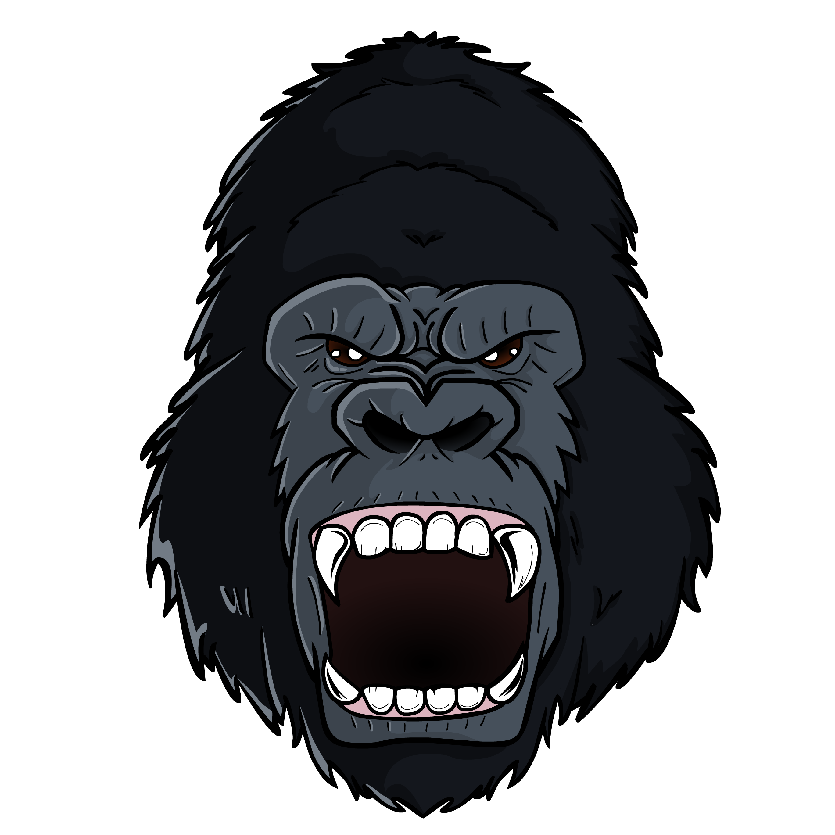 Gorilla head png. By theiyoume on newgrounds