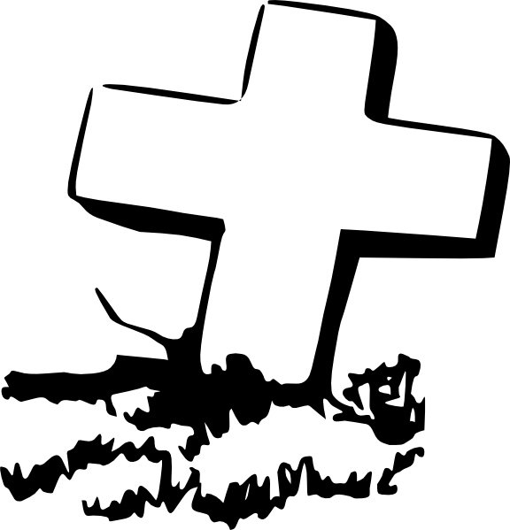 Cartoon gravestone png. Cross grave graveyard clip