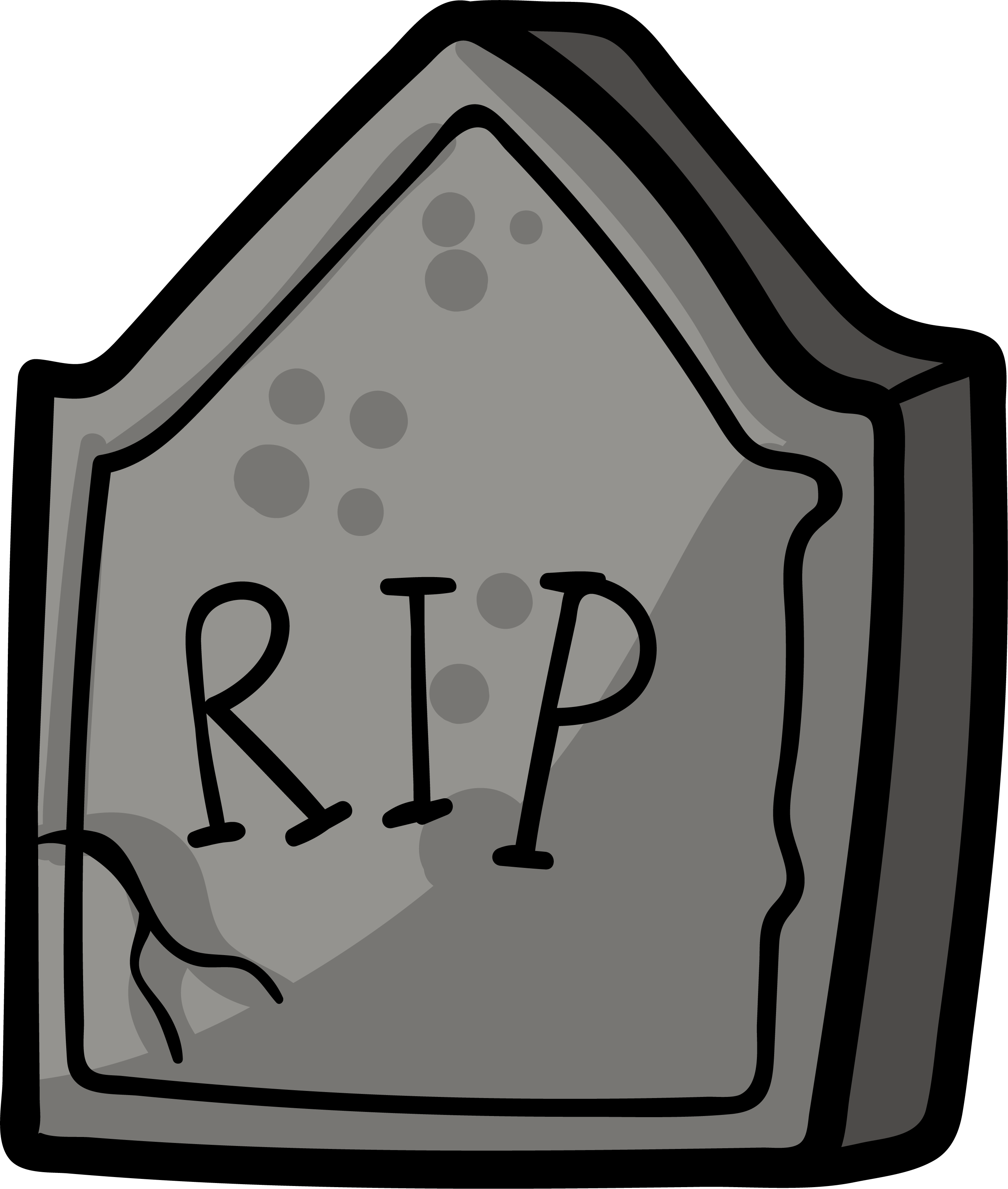 Cartoon gravestone png. Headstone grave drawing tomb