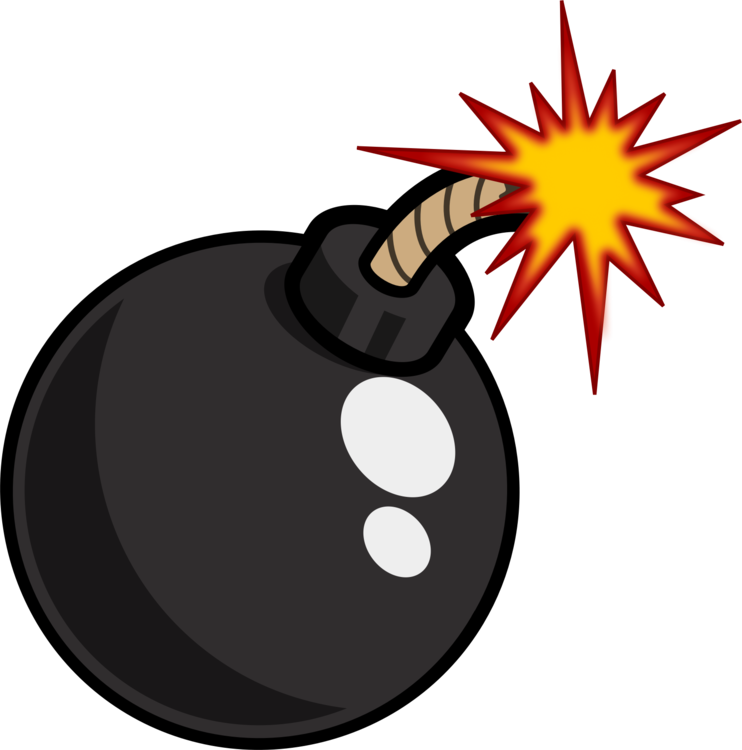 Dynamite drawing time bomb. Computer icons nuclear weapon