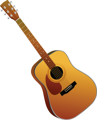Cartoon guitar png. Three isolated stock photo