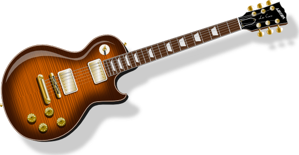 Cartoon guitar png. With flametop finish clip