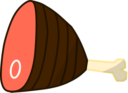 Ham vector. Image rc png object