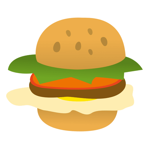 Cartoon hamburger png. Funny transparent svg vector