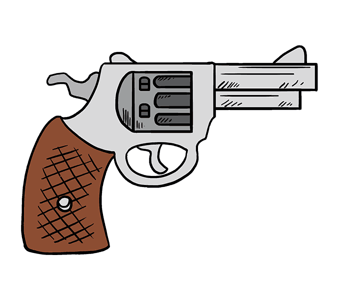 Cartoon handgun png. Collection of pistol