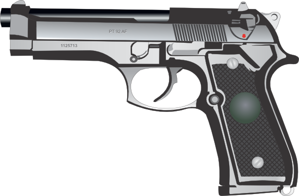 Cartoon handgun png. Mm pistol clip
