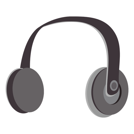 Headphone transparent headset. Cartoon png svg vector