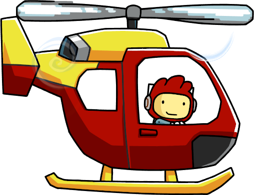 Cartoon helicopter png. Image rescue usage scribblenauts