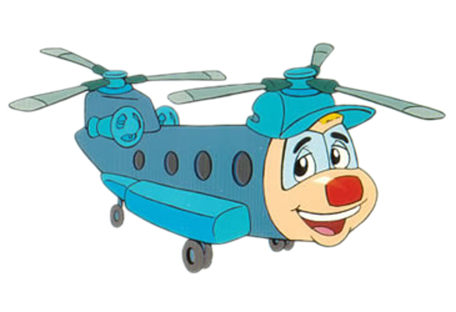 Cartoon helicopter png. Characters budgie the little