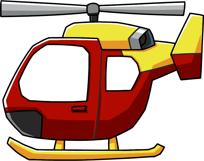 Cartoon helicopter png. Image rescue scribblenauts wiki