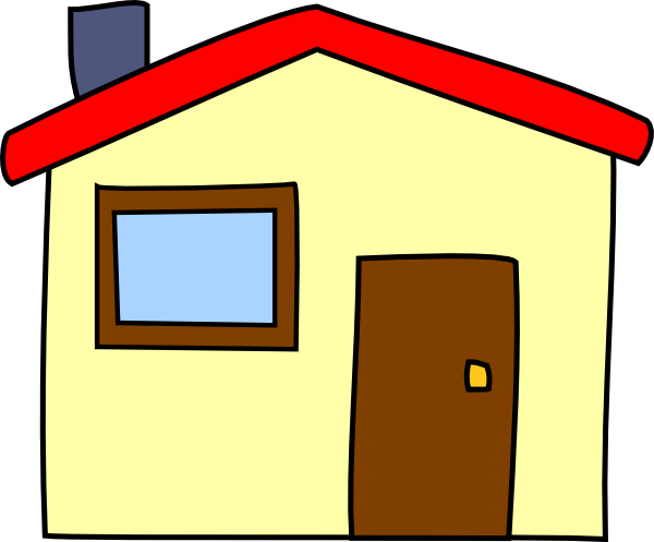 Cartoon house png. Simple clip art at