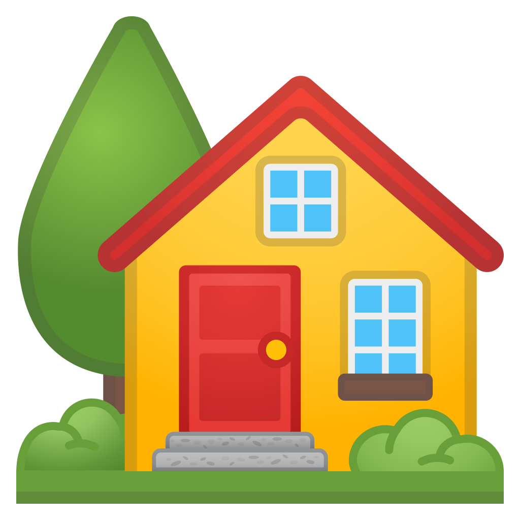 Homes vector green. House with garden icon