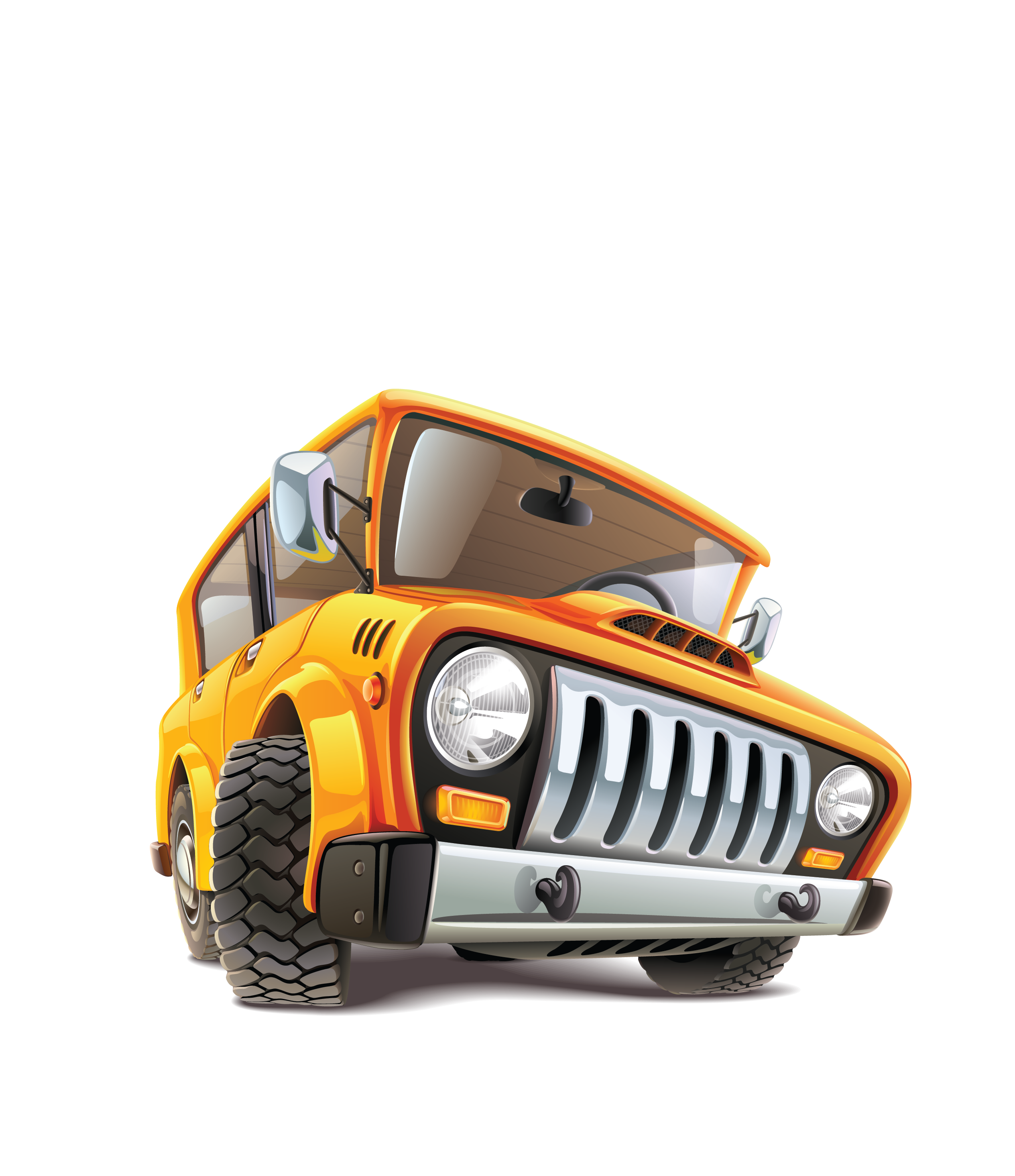Cartoon jeep png. Car icon vector transprent