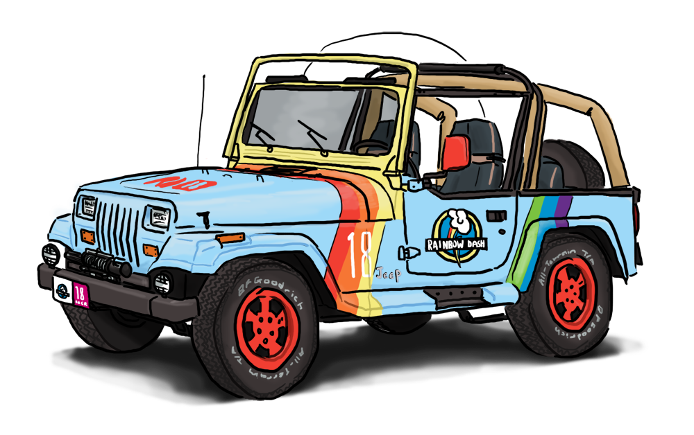 Cartoon jeep png. My little pony jurassic