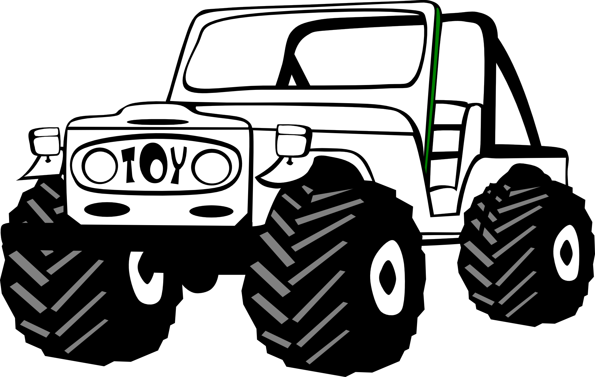 Black and white transparent. Cartoon jeep png image freeuse library