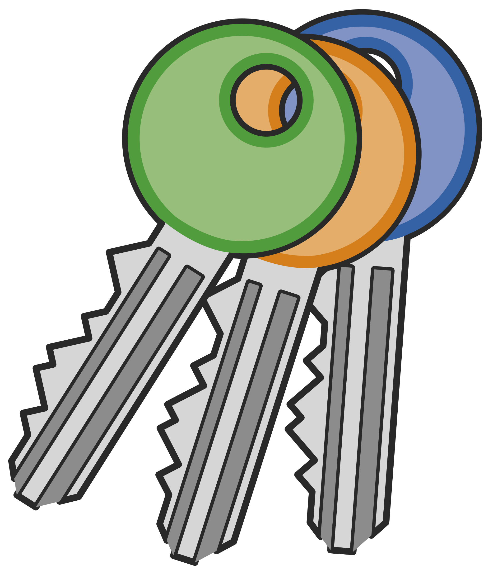Keys clipart png. Three icons free and