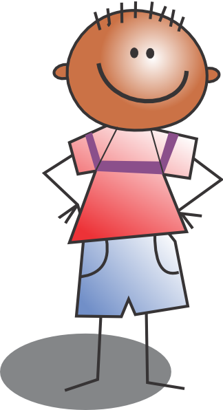 Kids transparent cartoon. Standing kid clip art
