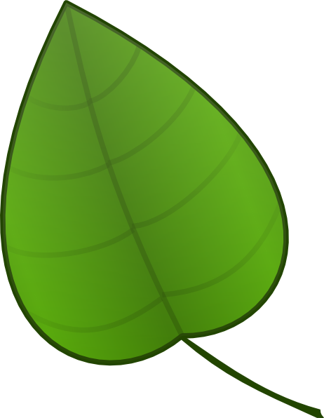 One vector leaf. Cartoon clipart